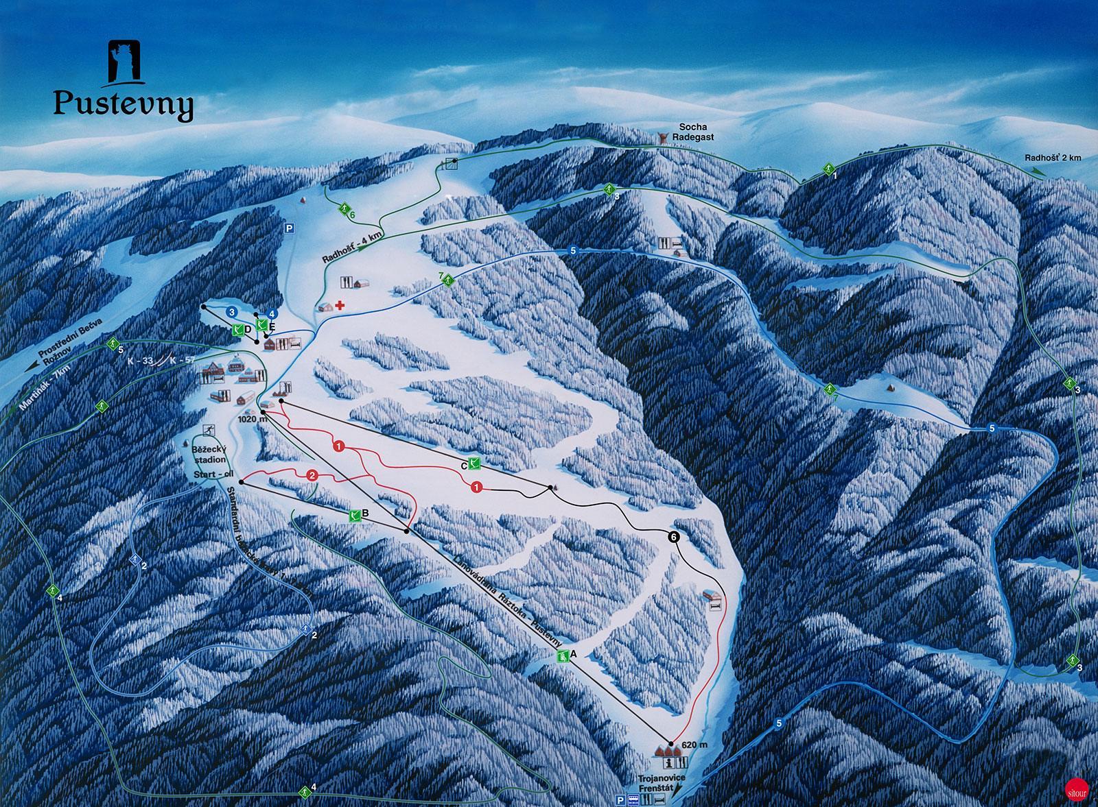 Skiareal  Pustevny (Pustewny)