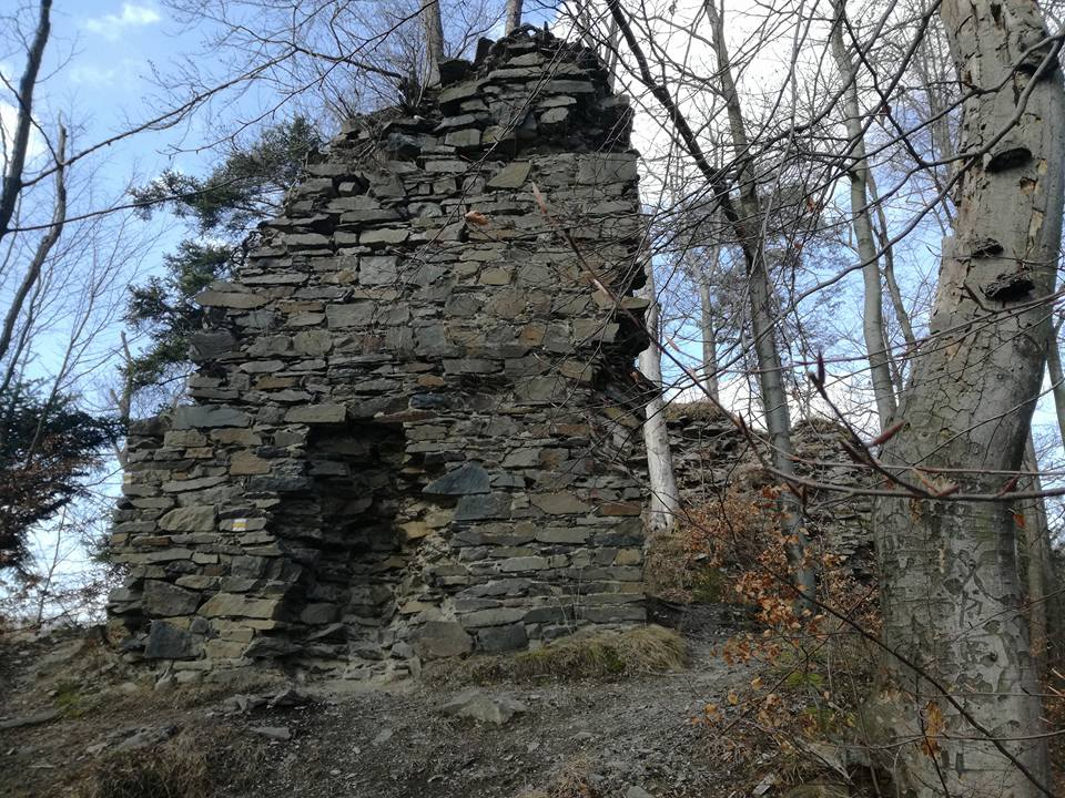 Rock city of Potštát and a former fort Puchart
