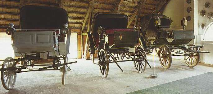 A private museum of vintage cars and old farming techniques